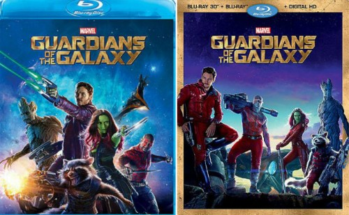 Guardians of the Galaxy Bluray DVD
