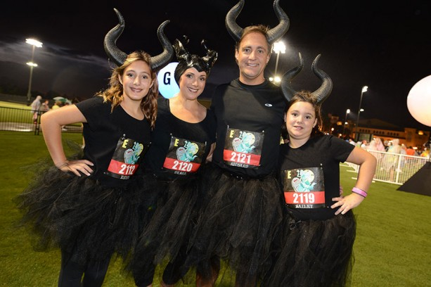 Runners Show Their Disney Side At The Twilight Zone Tower Of
