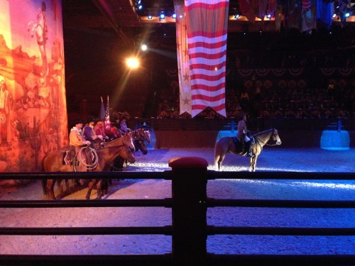Our view at Buffalo Bill's Wild West Show.