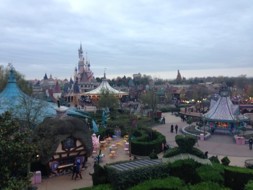 The view from the Queen's castle in Alice's Curious Labyrinth.