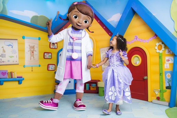 "Disney's Hollywood Studios guests can meet Dottie ""Doc"" McStuffins from the Disney Channel and Disney Junior TV show ""Doc McStuffins"" in her backyard playhouse clinic in the Animation Courtyard for happy hugs and star-powered pictures. Disney's Hollywood Studios is one of four theme parks at Walt Disney World Resort located in Lake Buena Vista, Fla. (Chloe Rice, photographer)"