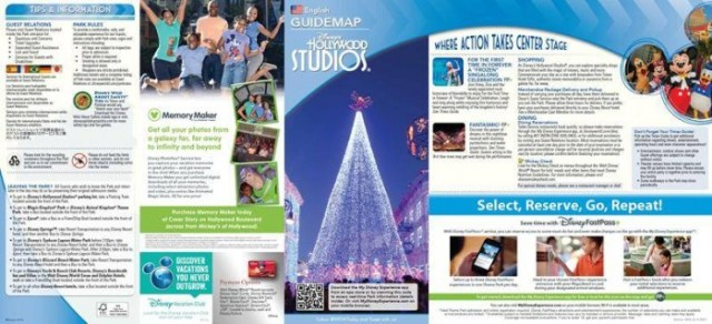 Hollywood Studios Guide Maps