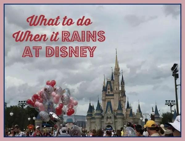 Magic Kingdom rain