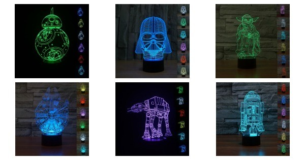 Star Wars LED Desk Lights