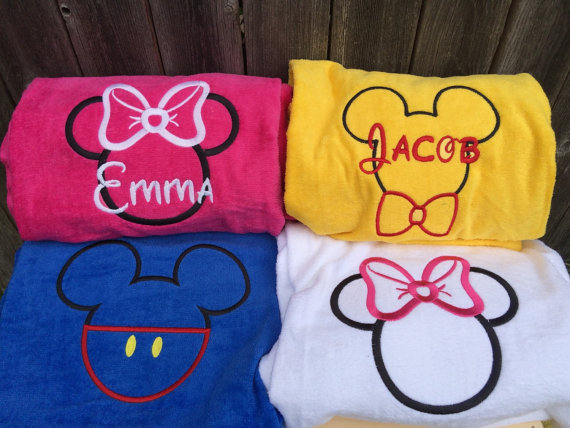 Personalized Mickey Beach Towels