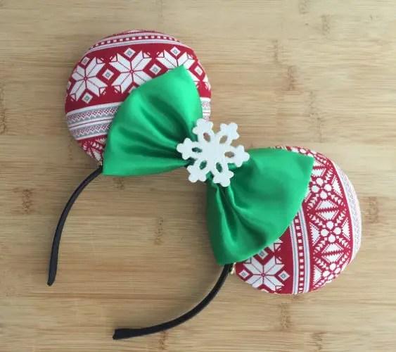 Holiday Sweater Mouse Ear Headband