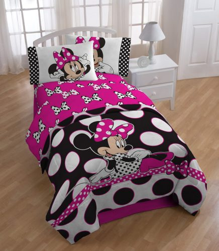 rock the dots with a polka dotted minnie mouse bed set - Minnie Mouse Bed Set