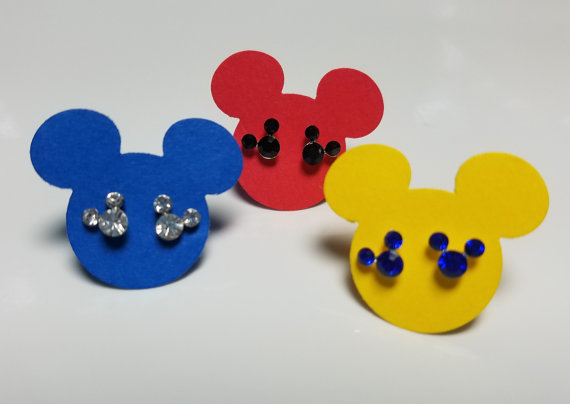 Crystal Mickey Mouse Earring Studs