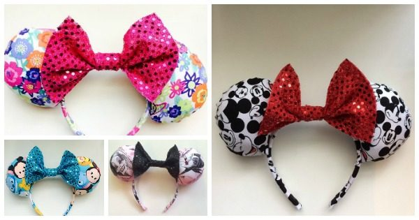 Handmade Fabric Minnie Mouse Ears
