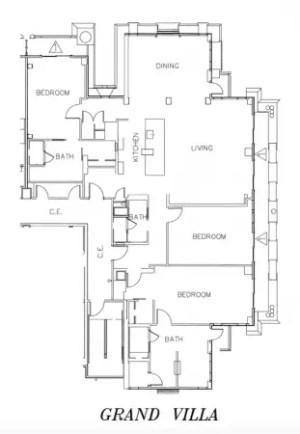 Dvc copper creek villas cabins details at disney 39 s for Fort wilderness cabins floor plan