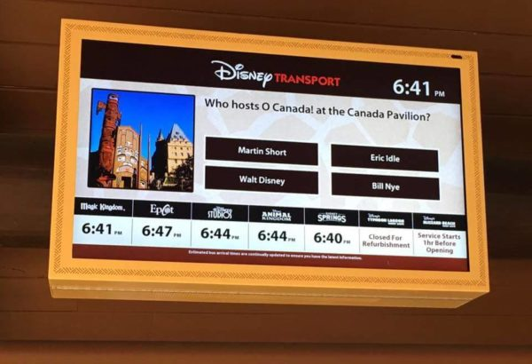 Trivia and Fun Facts added to Disney Digital Transportation Boards 1
