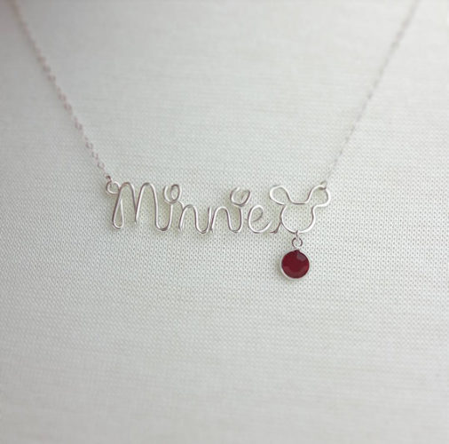b91cc78f5 Beautiful Disney Birthstone Necklace with Personalized Name