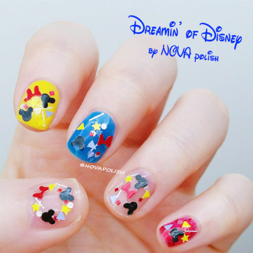 Mickey Mouse Inspired Confetti Nail Polish