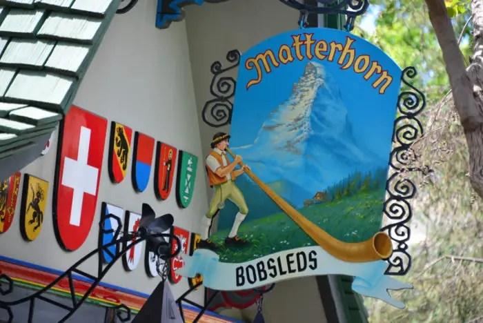 Matterhorn Bobsleds Sign