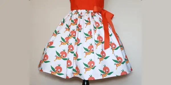 Orange Bird Skirt