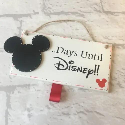 Wooden Disney Countdown