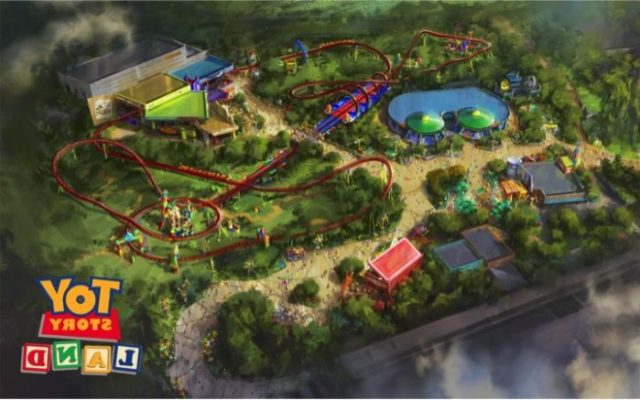 New Aerial Photos of the Construction Progress for Toy Story Land 2