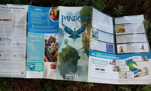 First Look at the New Animal Kingdom GUIDEMAP and New Pandora - The World of Avatar Guide 6