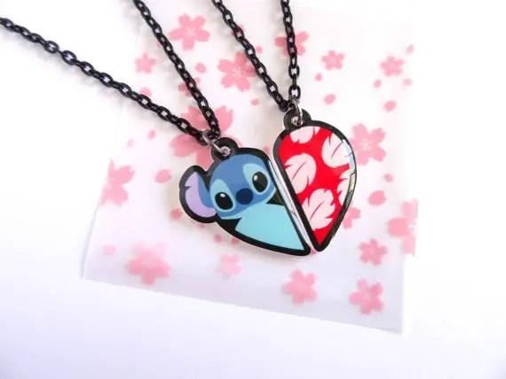 Stitch Best Friends Forever Necklace Set