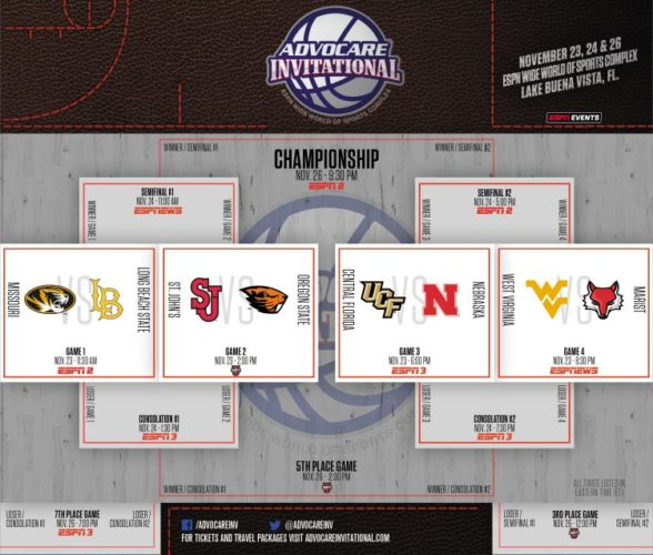 Brackets for the 2017 AdvoCare Invitational Have Been Announced