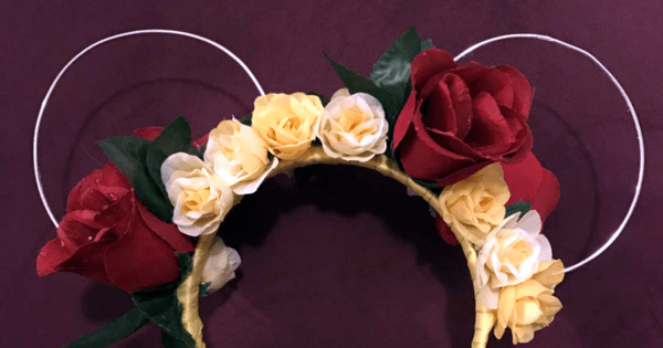 Belle Inspired Floral Minnie Ears