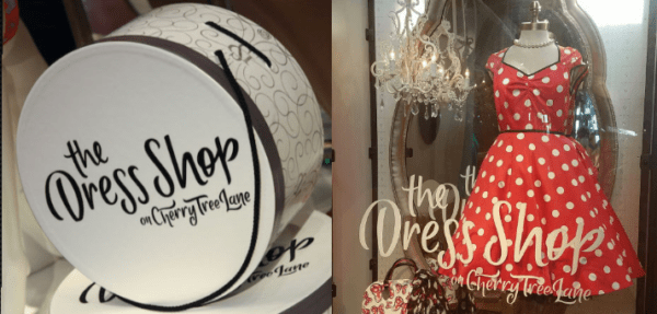 7e7fca32bfcc9 The Dress Shop on Cherry Tree Lane located in Marketplace Co-Op at Disney  Springs is back and full of magical Disney dresses and accessories.