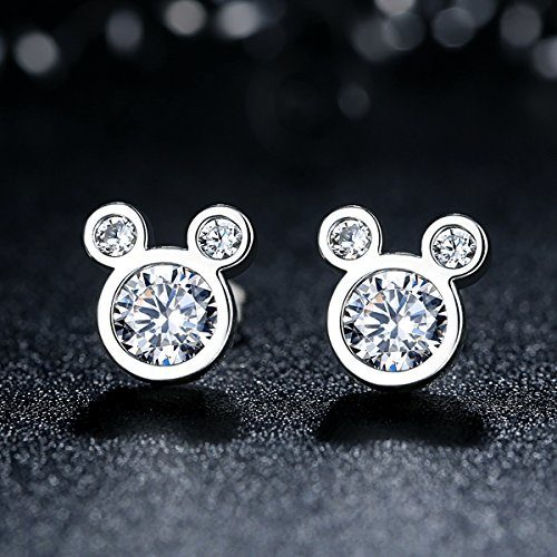 Sterling Silver Mickey Mouse Stud Earrings