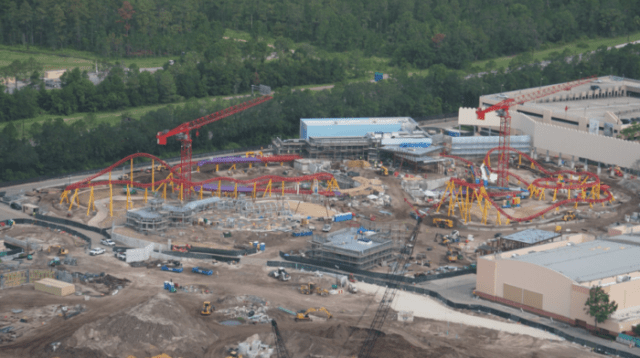 Aerial Images of Star Wars: Galaxy's Edge and Toy Story Land Progress 1