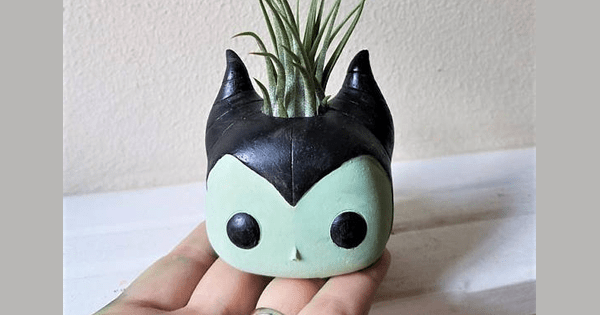 Maleficent Inspired Planter