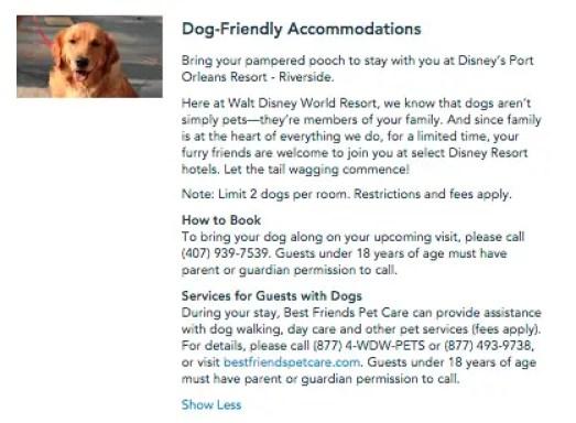 More Details Emerge Regarding Disney World's New Dog-Friendly Resorts 2