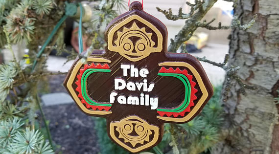 Personalized Polynesian Resort Sign Ornament