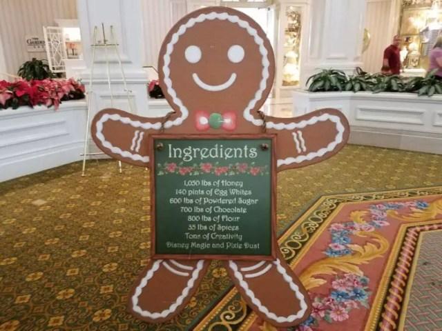 Fantastical Gingerbread Display at the Grand Floridian Resort and Spa 2