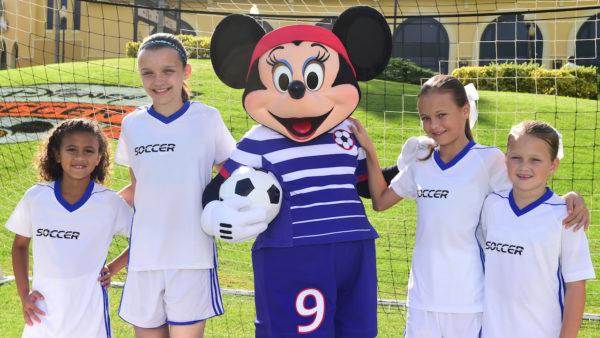 Minnie Mouse Shows Off Her New Soccer Uniform at 2017 Disney Girls Soccer Showcase 1