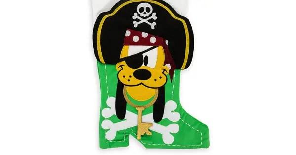 Pirate Pluto Holiday Stocking