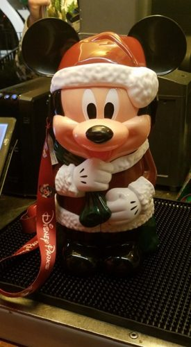 The Santa Mickey Popcorn Bucket has Returned for the Christmas Party 1
