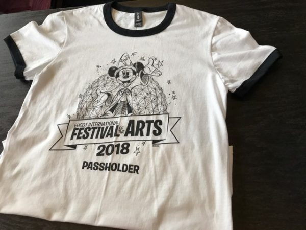New Custom Screen Printed T-Shirts being offered for Epcot Festival of the Arts 4