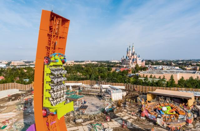 Rex and Trixie Arrive At Toy Story Land in Shanghai Disneyland 1