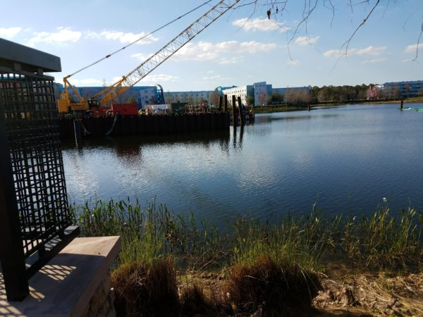 Disney Skyliner Construction Pictures from Pop Century Area 13