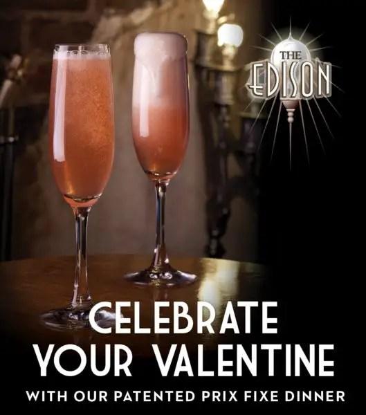 Edison Valentine's Day Menu