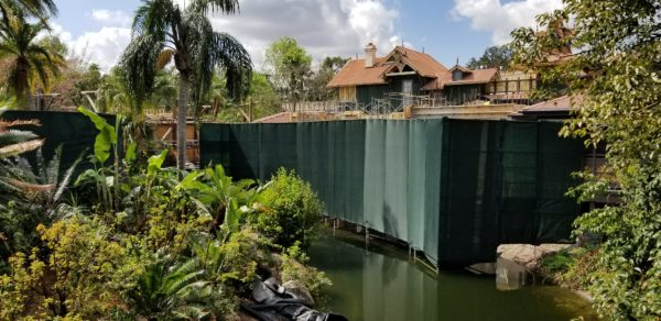Potential Club 33 Construction Update from the Adventureland Veranda At Magic Kingdom 2