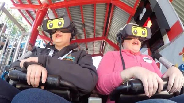 NEW! The Great LEGO Race VR Coaster - LEGOLAND Florida 7