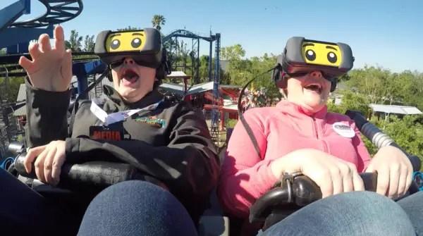 NEW! The Great LEGO Race VR Coaster - LEGOLAND Florida 8