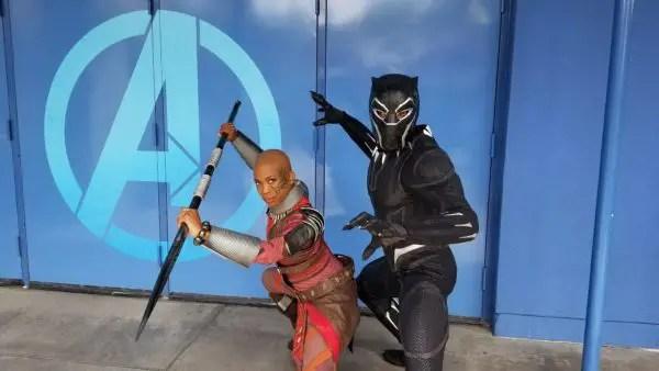 Fans Encounter Black Panther at Disneyland 1