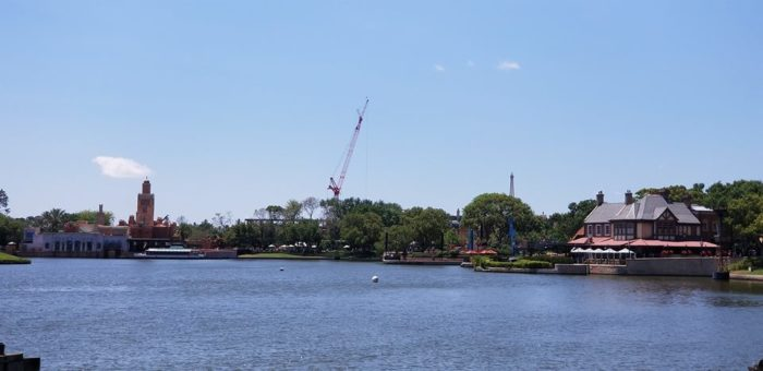 Construction of New Ratatouille Ride at Epcot