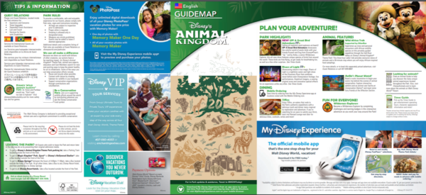 Animal Kingdom Earth Day Updated Park Guide Maps Out Today 4
