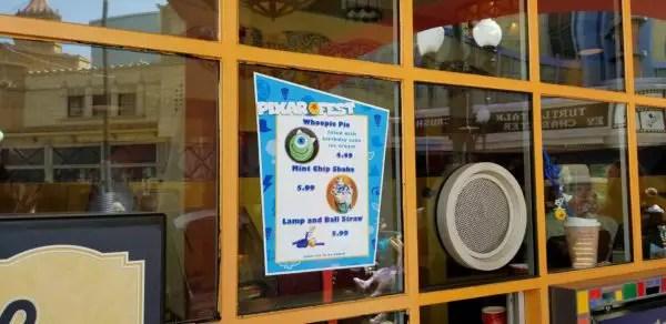 Mint Chip Shakes and Pixar Straws Available at Disneyland 3