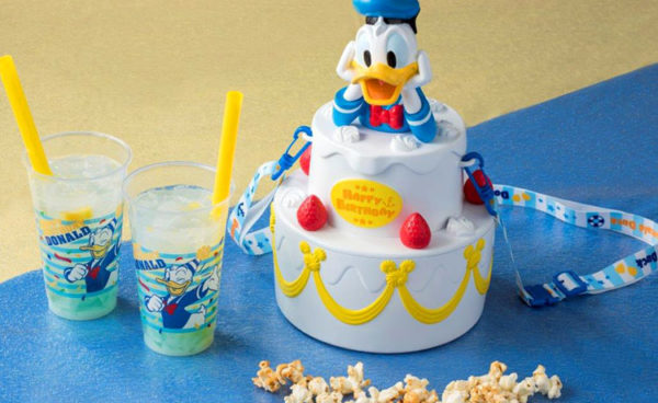 Excellent Donald Duck Birthday Popcorn Bucket From Tokyo Disneyland Funny Birthday Cards Online Chimdamsfinfo