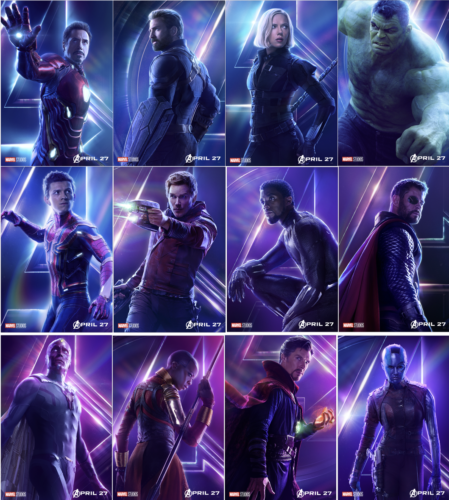 Avengers: Infinity War character posters