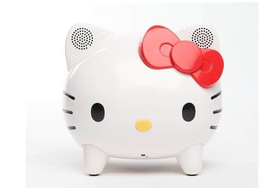 hello kitty bluetooth wireless speaker is portable cuteness chip chick. Black Bedroom Furniture Sets. Home Design Ideas