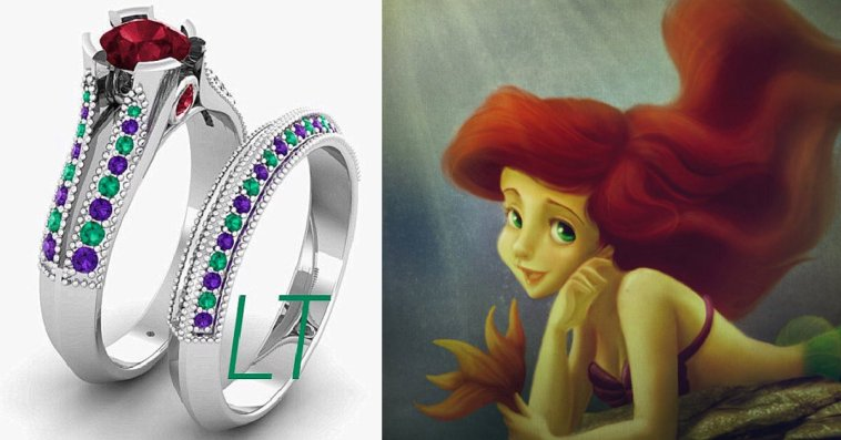 23 Disney Inspired Engagement Rings For Your Future Prince Or